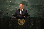 H.E. Mr. Andrzej Duda<br /> President of POLAND<br /> <br /> General Assembly Seventy-first session: Opening of the General Debate 71 United Nations, New York