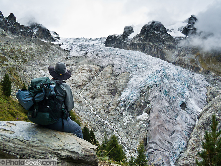 See glacier du trient on hike over fen tre d 39 arpette pass for Fenetre d arpette