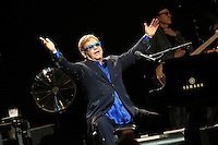 Elton John in concert.