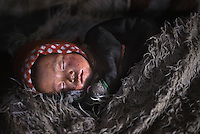 Sleeping nomad baby, Lunag Valley, Central Valley, 2004
