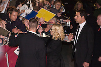 "Madonna leaves the Hyatt Hotel after the ""Filth and Wisdom"" Press Conference during the 58th Berlinale Film Festival on 13 February, 2008 in Berlin, Germany.  (Philip Schulte/PressPhotoIntl.com)"