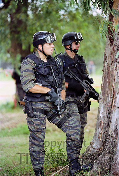 Armed soldiers in Buenos Aires, Argentina