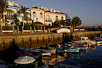 Brightly painted harbour side houses, Puerto Mogan Harbour, Gran Canaria. Canary Islands