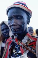 Sudan. South Sudan. Bahr El Ghazal. Mayen Abun. Dinka slaved woman bought back by Christian Solidarity International (CSI) from muslim arab traders. © 1999 Didier Ruef