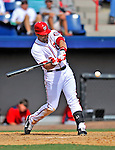 4 March 2012: Washington Nationals infielder Mark DeRosa in action against the Houston Astros at Space Coast Stadium in Viera, Florida. The Astros defeated the Nationals 10-2 in Grapefruit League action. Mandatory Credit: Ed Wolfstein Photo