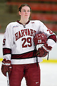 Elizabeth Parker (Harvard - 29) - The Harvard University Crimson defeated the St. Lawrence University Saints 8-3 (EN) to win their ECAC Quarterfinals on Saturday, February 26, 2011, at Bright Hockey Center in Cambridge, Massachusetts.