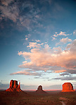 The Mittens and Merrick Butte at Monument Valley Tribal Park, Arizona