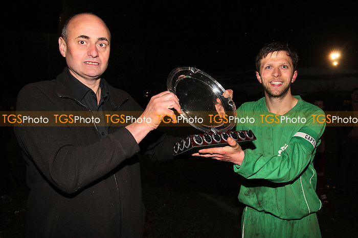 Plate Winners Frontline Reserves - Cressing Yardley United vs Frontline Reserves - Braintree & North Essex Sunday League Neil Horrocks Memorial Invitation Plate Final at Halstead Town FC - 14/05/12 - MANDATORY CREDIT: Gavin Ellis/TGSPHOTO - Self billing applies where appropriate - 0845 094 6026 - contact@tgsphoto.co.uk - NO UNPAID USE.