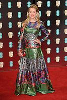 Edith Bowman at the 2017 EE British Academy Film Awards (BAFTA) held at The Royal Albert Hall, London, UK. <br /> 12 February  2017<br /> Picture: Steve Vas/Featureflash/SilverHub 0208 004 5359 sales@silverhubmedia.com