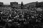 Buyers and sellers in Kabul, Afghanistan's main market on Thursday Sept. 25, 2008.
