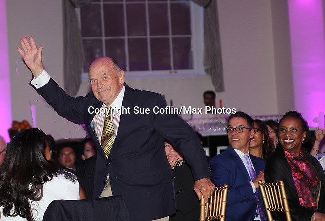 Figure Skating in Harlem celebrates 20 years - Champions in Life benefit Gala on May 2, 2017 honoring Curtis McGraw Webster and award presented to him by Dick Button at 583 Park Avenue, New York City, New York. (Photo by Sue Coflin/Max Photos)