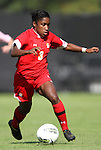 23 October 2011: Maryland's Jasmyne Spencer. The Duke University Blue Devils defeated the University of Maryland Terrapins 3-1 at Koskinen Stadium in Durham, North Carolina in an NCAA Division I Women's Soccer game.