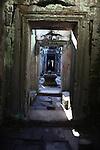 An empty corridor at Preah Khan, in Angkor Thom, Cambodia. June 8, 2013.