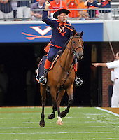 Sept. 3, 2011 - Charlottesville, Virginia - USA; Virginia Cavaliers Mascot rides his horse during an NCAA football game against William & Mary at Scott Stadium. Virginia won 40-3. (Credit Image: © Andrew Shurtleff