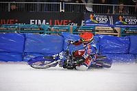 MOTORSPORT: HEERENVEEN: 02-04-2017, IJsstadion Thialf, WK IJsspeedway, Wereldkampioen Dmitri Kolkatov (RUS), ©foto Martin de Jong