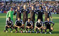 San Jose, California - Saturday, May 19, 2012: The San Jose Earthquakes and the Columbus Crew tie 1-1 at Buck Shaw Stadium during a regular season game.