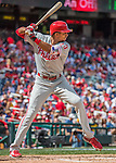 11 September 2016: Philadelphia Phillies outfielder Aaron Altherr in action against the Washington Nationals at Nationals Park in Washington, DC. The Nationals edged out the Phillies 3-2 to take the rubber match of their 3-game series. Mandatory Credit: Ed Wolfstein Photo *** RAW (NEF) Image File Available ***