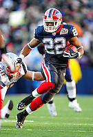 20 December 2009: Buffalo Bills' running back Fred Jackson rushes for yardage in the fourth quarter against the New England Patriots at Ralph Wilson Stadium in Orchard Park, New York. The Patriots defeated the Bills 17-10. Mandatory Credit: Ed Wolfstein Photo