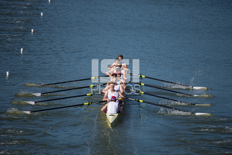 Redwood Shores, Ca - April 30, 2016: The Big Row between Stanford and Cal at Redwood Shores.