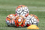16 August 2015: Nike Ordem 3 soccer balls. The United States Women's National Team played the Costa Rica Women's National Team at Heinz Field in Pittsburgh, Pennsylvania in an women's international friendly soccer game. The U.S. won the game 8-0.