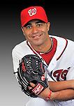 25 February 2011: Washington Nationals' infielder/outfielder Jerry Hairston Jr. poses for his Photo Day portrait at Space Coast Stadium in Viera, Florida. Mandatory Credit: Ed Wolfstein Photo