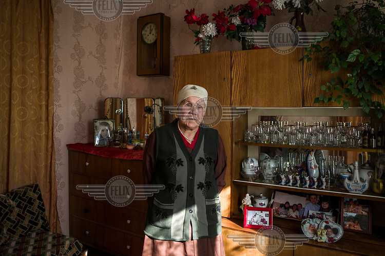 Anisa Hafizova, 85, in her home. Anisa was sent to Tselinograd (Astana's previous name) in 1957 with her husband from their home in Siberia as part of Soviet leader Nikita Khrushchev's 'Virgin Lands' campaign. During the campaign many young communists where sent to northern Kazakhstan to work the fields and boost the Soviet Union's agricultural production.