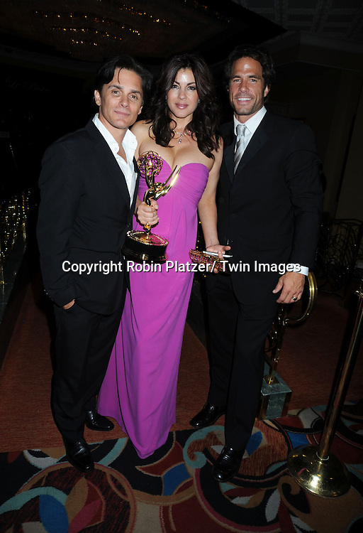 Billy Warlock, Julie Pinson and Shawn Christian posing at  the after party at the  Daytime Emmy Awards on June 27, 2010 at the Hilton at Las Vegas in Nevada.