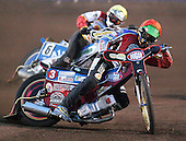 Heat 6 - Kasprzak (red), Moore (yellow) - Lakeside Hammers vs Swindon Robins - Sky Sports Elite League at Arena Essex, Purfleet - 17/08/07  - MANDATORY CREDIT: Gavin Ellis/TGSPHOTO - SELF-BILLING APPLIES WHERE APPROPRIATE. NO UNPAID USE. TEL: 0845 094 6026..