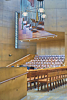 Cathedral of Our Lady of the Angels, Los Angeles, CA, Downtown, City, church, Spanish architect, Rafael Moneo, acute and obtuse angles High dynamic range imaging (HDRI or HDR)