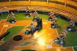 San Francisco: Musee Mechanique, coin operated mechanized arcade games, such as Play Baseball, Pier 39, Fisherman's Wharf.  Photo copyright Lee Foster. Photo # casanf104189