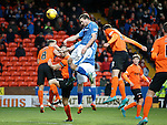 Dundee United v St Johnstone....21.11.15  SPFL,  Tannadice, Dundee<br /> Chris Kane heads the ball in to make it 1-1<br /> Picture by Graeme Hart.<br /> Copyright Perthshire Picture Agency<br /> Tel: 01738 623350  Mobile: 07990 594431