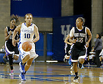 Junior guard Bernisha Pinkett brings the ball up the court at the Women's Basketball game at Memorial Coliseum in Lexington, Ky., on Saturday, November. 17, 2012..