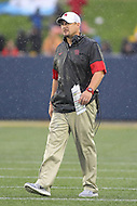 Annapolis, MD - October 8, 2016: Houston Cougars head coach Tom Herman walks on the field during game between Houston and Navy at  Navy-Marine Corps Memorial Stadium in Annapolis, MD.   (Photo by Elliott Brown/Media Images International)
