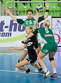 Barbara Varlec Lazovic of Krim during handball match between RK Krim Mercator and Gyori Audi ETO KC (HUN) in 3rd Round of Group B of EHF Women's Champions League 2012/13 on October 28, 2012 in Arena Stozice, Ljubljana, Slovenia. Gyori defeated Krim Mercator 31-20. (Photo By Vid Ponikvar / Sportida)