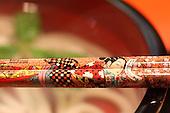 Jan. 21, 2009; Obama, Fukui Prefecture, Japan - Detail of hashi (chopsticks) at Miyabi.