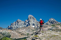 Jim Osterhout capturing the beauty of the west side of the Grand Tetons from Grand Targhee Mountain Resort