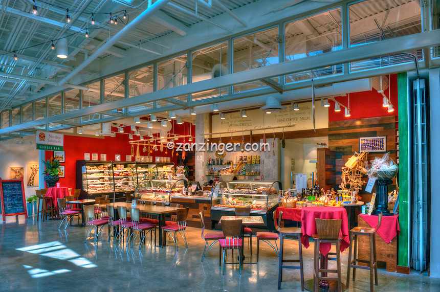 Norcino Salumeria, The Market, super specialized cheese counter, Santa Monica Place, Santa Monica  CA; Food Court, Fast Food, restaurant,