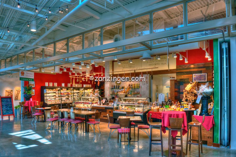 Norcino Salumeria, The Market, super specialized cheese counter, Santa Monica Place, Santa Monica  CA; Food Court, Fast Food, restaurant,