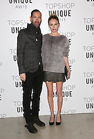 Kate Bosworth and Michael Polish arrives at the Unique show as part of London Fashion Week AW13, Tate Modern, London. 17/02/2013 Picture by: Henry Harris / Featureflash