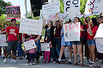 Sacramento, CA May 13, 2011. California Teachers Association stages a State of Emergency rally on the lawn of the State Capitol