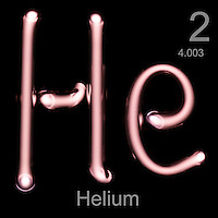 Helium gas in tube