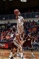 SAN ANTONIO, TX - NOVEMBER 22, 2014: The Texas State University Bobcats fall to the University of Texas at San Antonio Roadrunners 80-67 at the UTSA Convocation Center. (Photo by Jeff Huehn)