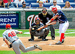 4 July 2009: Washington Nationals' third baseman Ryan Zimmerman in action against the Atlanta Braves at Nationals Park in Washington, DC. The Nationals rallied with 4 runs in the 8th to defeat the Braves 5-3 and take the second game of the 3-game weekend series. Mandatory Credit: Ed Wolfstein Photo