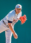 16 March 2014: Detroit Tigers pitcher Bruce Rondon on the mound during a Spring Training Game against the Washington Nationals at Space Coast Stadium in Viera, Florida. The Tigers edged out the Nationals 2-1 in Grapefruit League play. Mandatory Credit: Ed Wolfstein Photo *** RAW (NEF) Image File Available ***