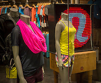 A Lululemon Athletica store in the trendy Meatpacking District in New York on Tuesday, August 20, 2013. The company recently faced a public relations nightmare when some of their yoga pants were discovered as being too sheer when stretched.  (© Richard B. Levine)