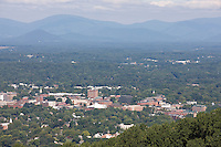 View of Charlottesville from Mt. Altos across from Monticello. Credit Image: © Andrew Shurtleff