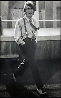BNPS.co.uk (01202 558833)<br /> Pic: Hansons/BNPS<br /> <br /> A smartly dressed John Lennon.<br /> <br /> Fascinating never before seen photographs of the Beatles during their Magical Mystery Tour have been unearthed after 50 years.<br /> <br /> The intimate snaps of the Fab Four were taken by a Beatles fan who was on holiday with his family at the Cornish seaside resort of Newquay at the time.<br /> <br /> The Beatles were in the town to record scenes for their Magical Mystery Tour film which was broadcast on Boxing Day 1967.<br /> <br /> Interestingly, the fan managed to capture the foursome in a private moment when they were not being mobbed by crowds of adoring fans.<br /> <br /> The images and their copyright have now emerged for auction and are tipped to sell for &pound;800.<br /> <br /> The vendor, who was in his late 20s at the time, snapped the Beatles entering The Atlantic Hotel in Newquay in September 1967.
