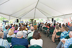 The Gladys W. and David H. Patton College of Education Dean Renee Middleton speaks at the the groundbreaking ceremony for McCracken Hall on Thursday, May 7, 2015. Photo by Ben Siegel/ Ohio University