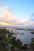 Photo of sunset over Dana Point Harbor Orange County California