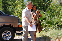 John Malkovich and Rosario Dawson on location for the filming of Chavez in Hermosillo, Mexico. June 5, 2012. Photo: Baldemar de los Llanos/NortePhoto/MediaPunch Inc. ***NO SPAIN***NO MEXICO***